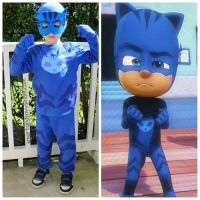 side by side, diy pj masks catboy costume with crafting ...