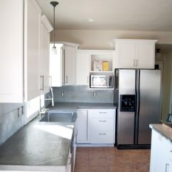 Cheap Kitchen Sinks Hanging Utensils In Diy Concrete Counters Poured Over Laminate | Looking ...