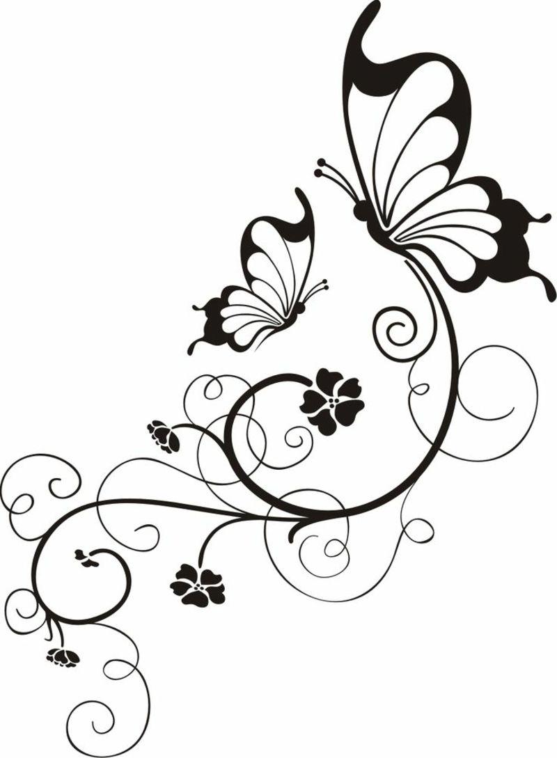 Malvorlage Blumen Ranken Top Kostenlos Färbung Seite