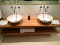 Floating wooden countertop for Bathroom | DIYnot Forums