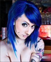 blue hair royal
