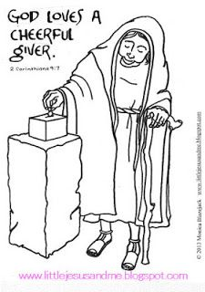 Little Jesus and Me: Coloring Pages: God Loves a cheerful