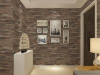 Vinyl Textured Embossed Brick Wall Wallpaper Modern 3d ...