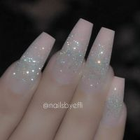 Oh yess. Pink glitter coffin nails | * NAILED IT ...