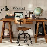 16 Classy Office Desk Designs In Industrial Style | Simple ...