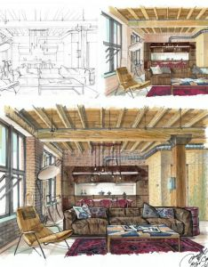 course on hand rendering with markers basic level for interior designers by olga sorokina also best images about design sketch pinterest rh