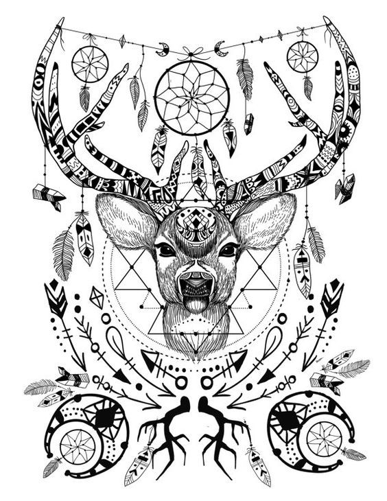 Image result for native american spirit animal coloring