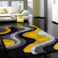 Silk Grey Yellow Carpet Floor Beautiful | Spacios & Chic ...