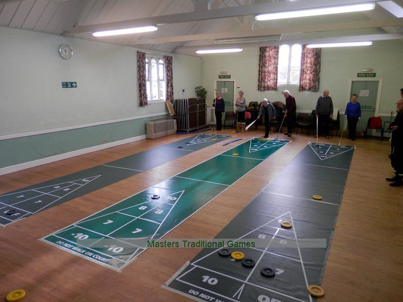 how to play shuffleboard on ground