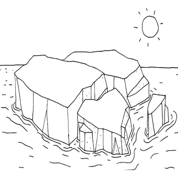 Melting Ice Cube Pages Coloring Pages