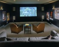 Media Room Sunken Living Room Design, Pictures, Remodel ...