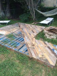 Patio Deck Out Of 25 Wooden Pallets | Front porches ...