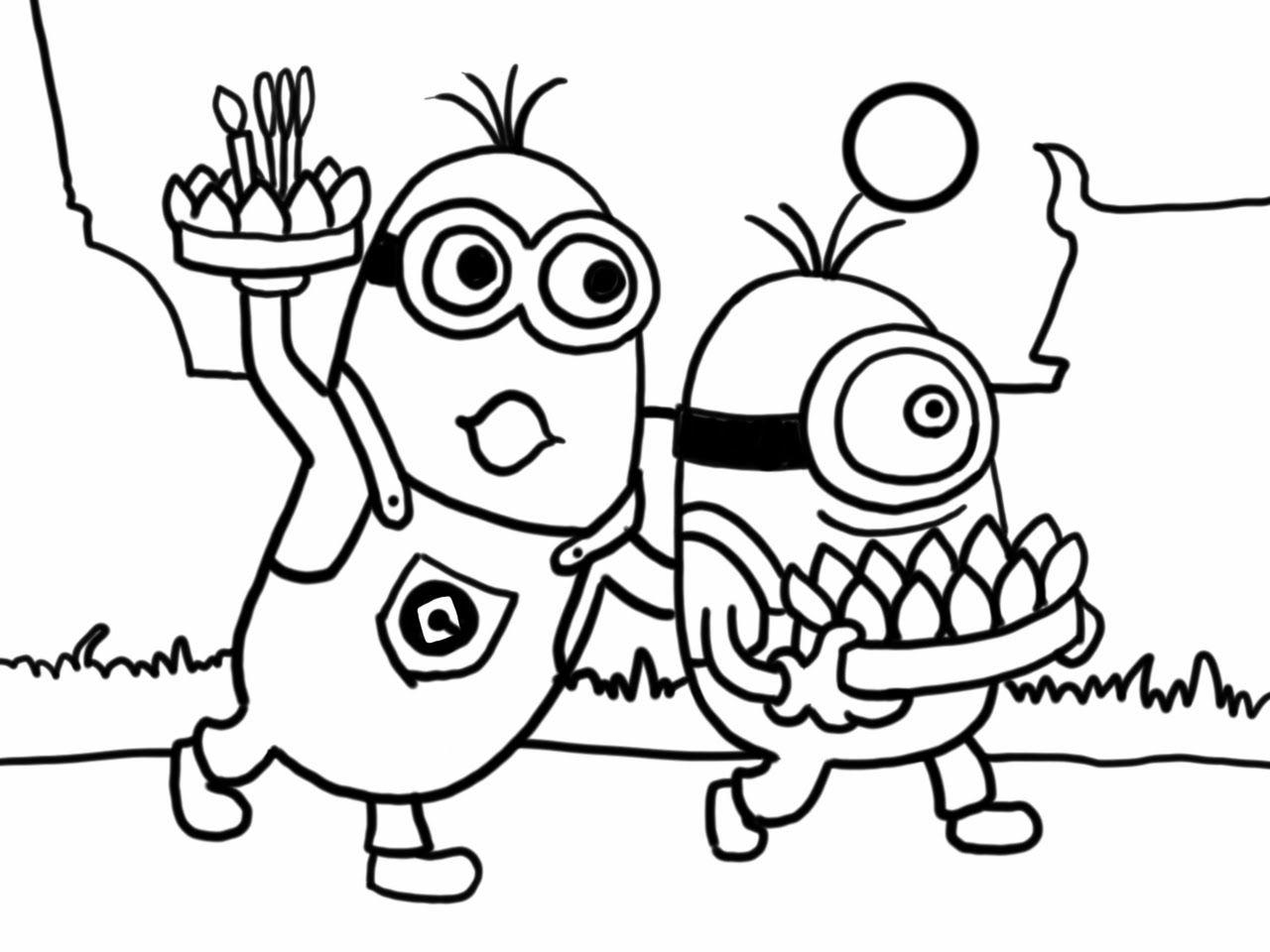 (วาดเส้น) สอนวาดรูป การ์ตูน มินเนี่ยน ลอยกระทง จาก การ์ตูน