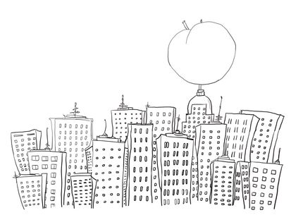 Click James and the Giant Peach in New York Coloring page