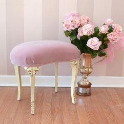 Pink Vanity Chair Cover Rental Dusty Chic Velvet Kidney Stool Delight