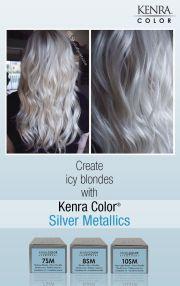 white hair with kenra silver metallic