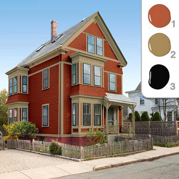 Picking The Perfect Exterior Paint Colors Red Color Schemes