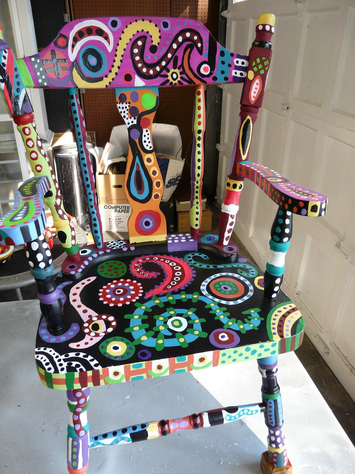 funky wooden chairs swivel chair leather kimagination my magical painting tutorial would be