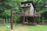 Outdoor Playhouse With Swing Set   playhouse & swingClick ...