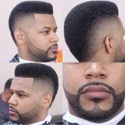 beard moustache & fade haircut