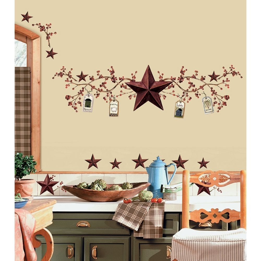 Details About STARS And BERRIES WALL DECALS Country Kitchen