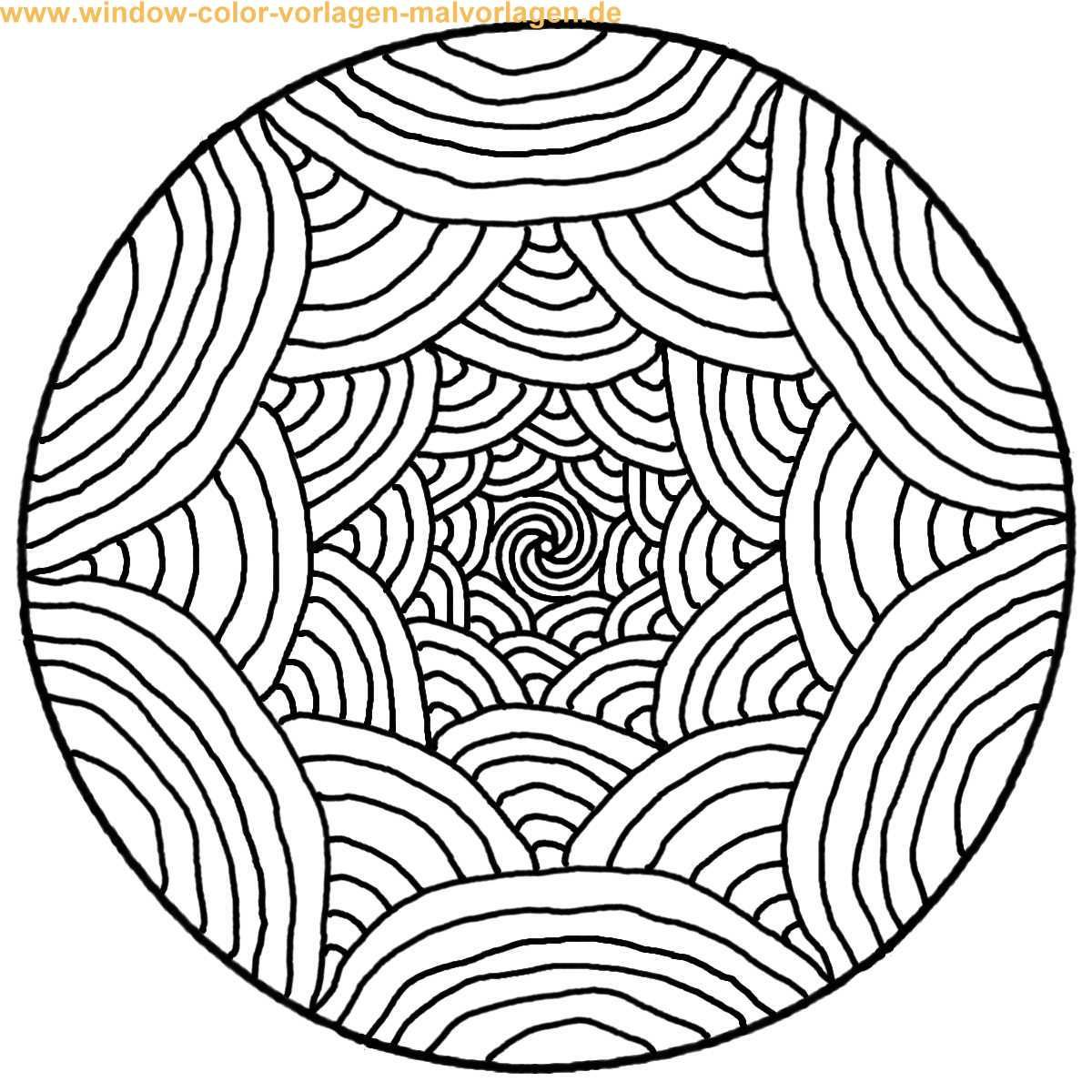 Mandalas to print and color Malvorlage Ausmalbild