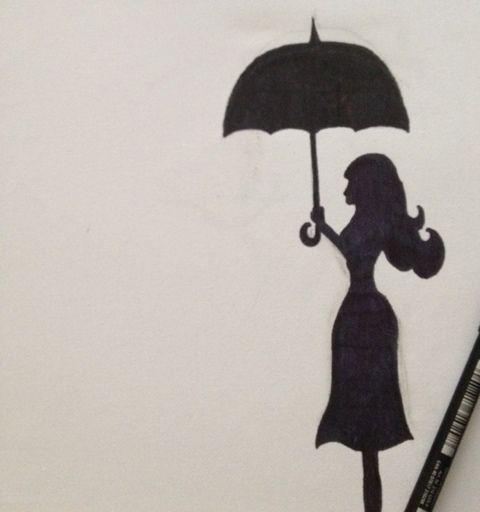girl silhouette with umbrella  Google Search  Art