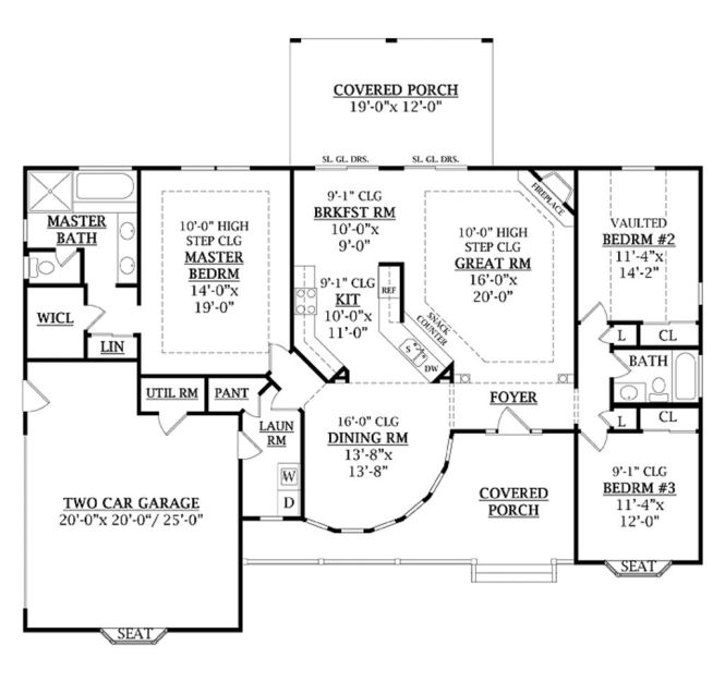 One Level House Plans With No Basement | Amazing House Plans