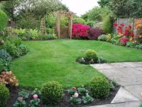 Nice Decoration Small Backyard Landscape Design With Lush ...
