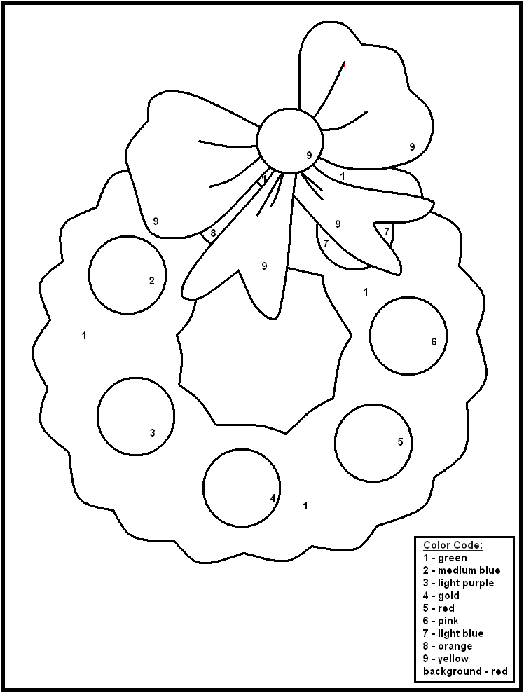 Free Printable Christmas Color By Number Worksheets
