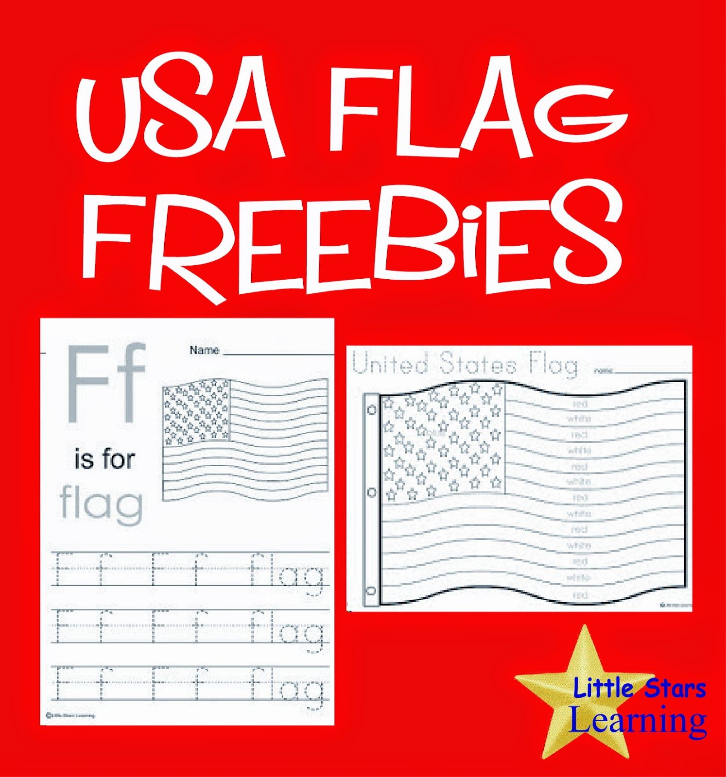 Little Stars Learning Flag Day W Printables Fun Coloring