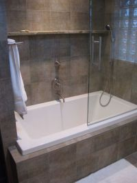 Built in bath with shower