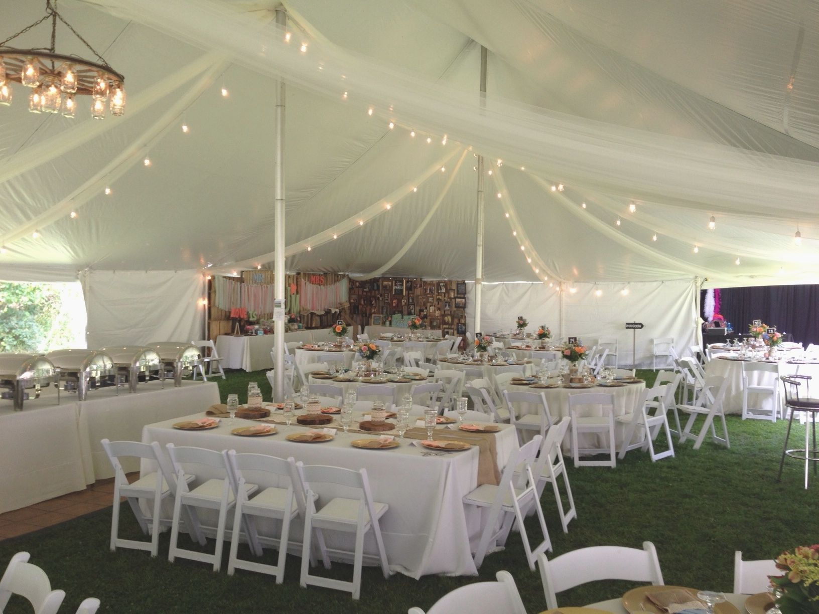 chair rental detroit metal chairs pottery barn a beautiful diy vitange country-chic wedding. 40 x 100 pole tent for wedding of 230 guests ...