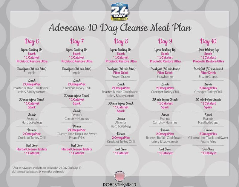 Advocare 24 Day Challenge Cleanse Phasee Advocare 24 Day
