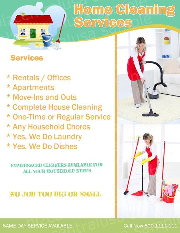 House Cleaning Flyer Ideas