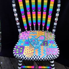 Funky Wooden Chairs Rocking For Kids Brightly Painted Furniture My Happy Chair Makeover Http
