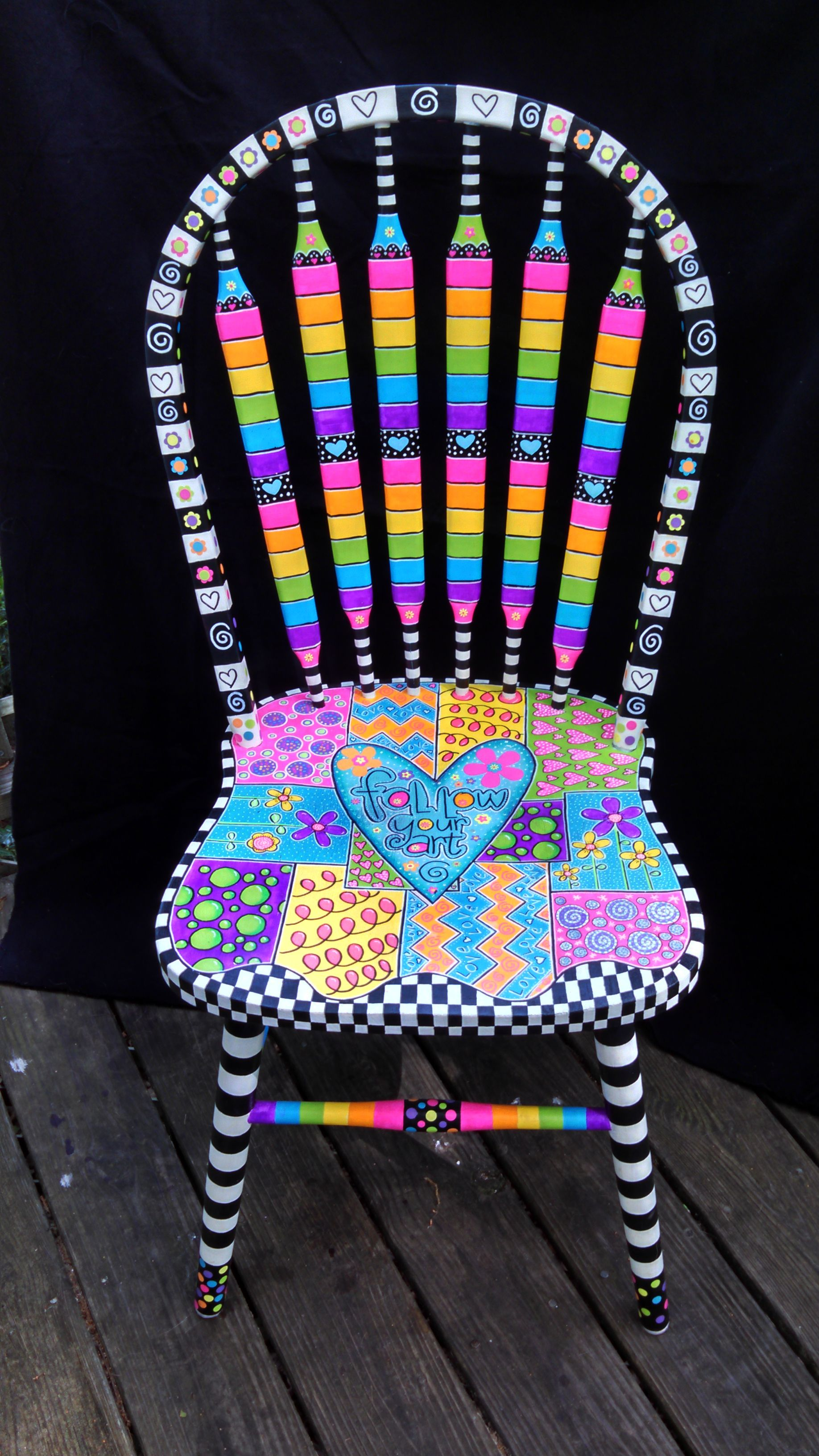 Ugly Chair Brightly Painted Furniture My Happy Chair Makeover Http