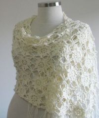 Ivory Wedding Shawl Love Flower Flowers Lace for Wedding ...