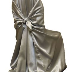 Universal Banquet Chair Covers Quick Folding Satin Self Tie Cover Silver As Low 4 99 Available From