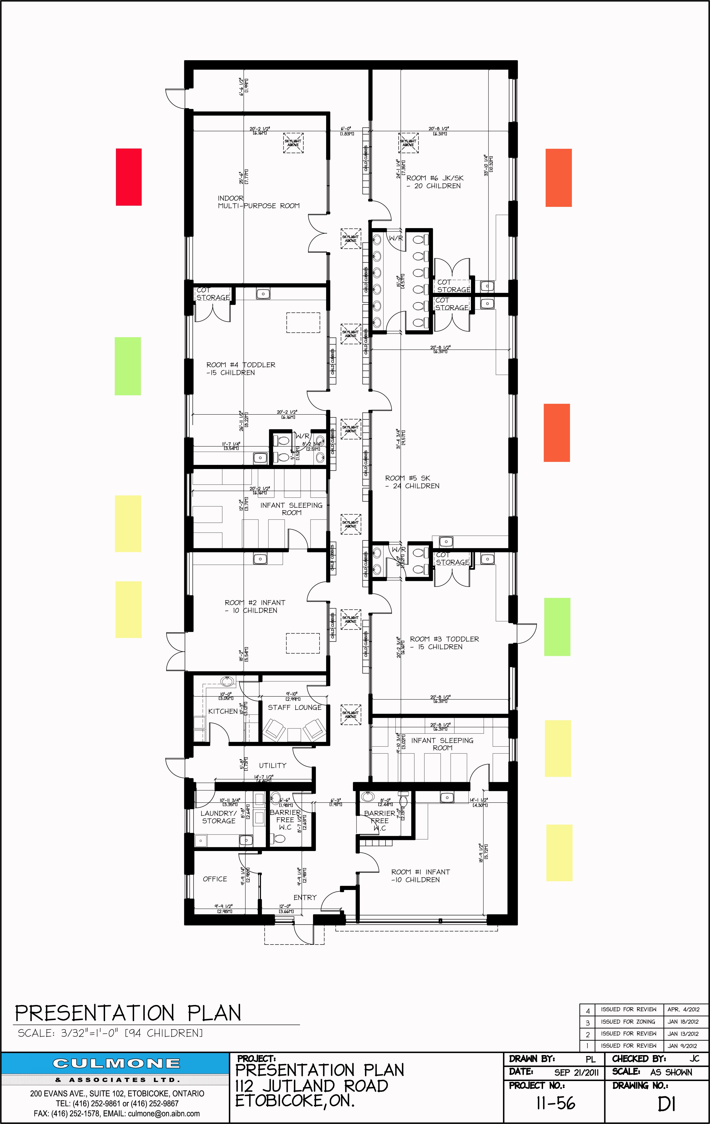Early Childhood Classroom Floor Plan With Dimensions