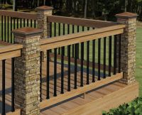 Decor & Tips: Cool Exterior Design With Deck Railing