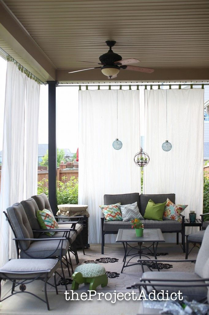 How To Make Your Own Diy Outdoor Curtains And Secure Them So They