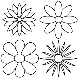 Repeating the petal pattern to reveal four different kinds