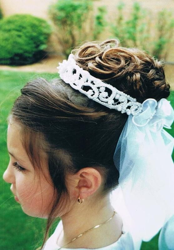 Kristin Updo Communion Hairstyle 1st Communion Pinterest
