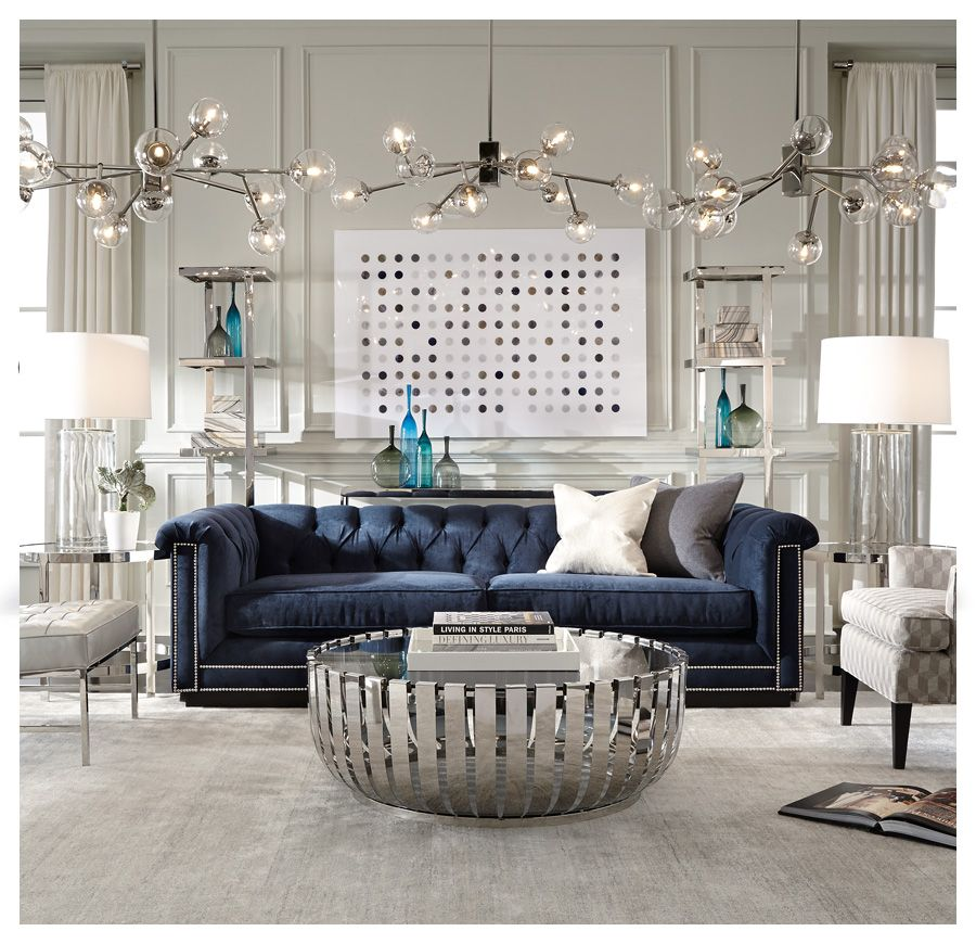 Blue Sofa See Art And Accent Pieces Barrymore Available Online In S