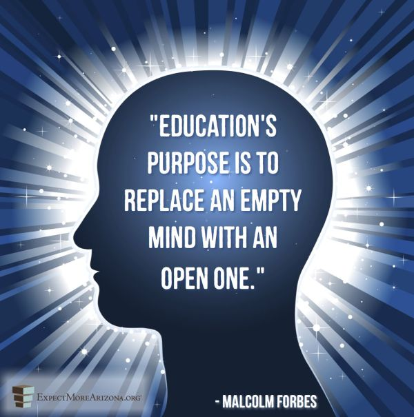 """education' Purpose Replace Empty Mind With"