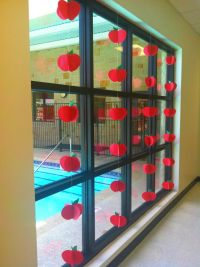 Back to School Apple Window Display