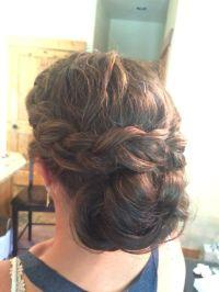 Thick Hair Side Braid into Low Bun Chignon Wedding ...