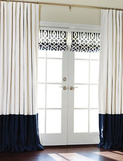 Custom Silk Roman Shades French Doors Window And Fabrics