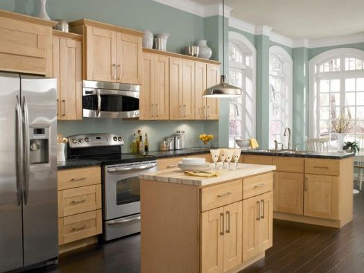 What Paint Color Goes With Light Oak Cabinets Kitchen Colors Wood